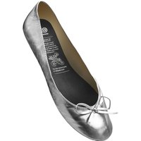 1 Pair Silver Silver Rollable After Party Shoes to Keep in Your Handbag Ladies Medium (5-6) - Rollasole