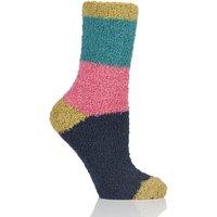 Ladies 1 Pair Braintree Wimborne Recycled Polyester Striped Socks