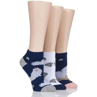 Ladies 3 Pair SockShop Wild Feet Pampered Persian Trainer Socks