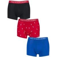3 Pack Pony Black Plain Cotton Stretch Trunks Men´s Small - Ralph Lauren