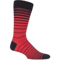 Mens 1 Pair Viyella Ombre Striped Wool Cotton Blend Socks
