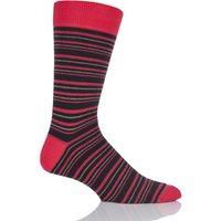 Mens 1 Pair Viyella Multi Striped Cotton Socks