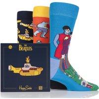Mens and Ladies Happy Socks The Beatles Yellow Submarine EP Collectors Cotton Socks Gift Box