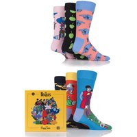 Mens and Ladies Happy Socks The Beatles LP Collectors Box Cotton Socks Gift Box
