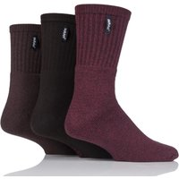 Mens 3 Pair Farah Cushioned Foot Plain Boot Socks