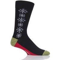 Mens 1 Pair Viyella Snowflake Cotton Socks