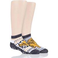 2 Pair Lion King with Disney Tiny Soles Lion King Gripper Socks Kids Unisex 4-6 Years (UK 9-12) - Tavi Noir