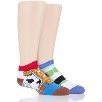 2 Pair Toy Story with Disney Tiny Soles Toy Story Gripper Socks Kids Unisex 4-6 Years (UK 9-12) - Tavi Noir