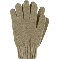 1 Pair Foliage Made In Scotland 100% Cashmere Plain Gloves In Green Ladies One Size - Great and British Knitwear