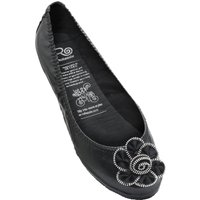 1 Pair Black Deluxe Range Midnight Rose Shoes Ladies Small (3-4) - Rollasole