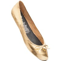 1 Pair Gold Gold Digger Rollable Shoes to Keep in Your Handbag, Car or Office Desk Ladies Large (7-8) - Rollasole