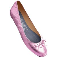 1 Pair Pink Pink Rollable After Party Shoes to Keep in Your Handbag Ladies Large (7-8) - Rollasole