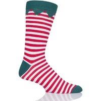 Mens and Ladies SOCKSHOP 1 Pair Lazy Panda Bamboo Santas Elf Christmas Socks Santas Elf 12-14 Mens