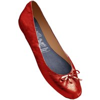1 Pair Red Red Rollable After Party Shoes to Keep in Your Handbag Ladies Small (3-4) - Rollasole
