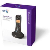 BT 090661 BT Everyday Cordless Phone in Black Single Handset