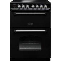 Rangemaster 107330 60cm CLASSIC Ceramic Cooker in Black Chrome