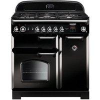 Rangemaster 116720 90cm CLASSIC Gas Range Cooker Black Chrome Trim