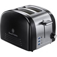 Buy Russell Hobbs 18046 MALVERN 2 Slice Toaster in Ebony Black Brushed Ste - Sonic Direct