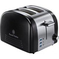 Buy Russell Hobbs 18046 MALVERN 2 Slice Toaster in Ebony Black Brushed Ste - Sonic Direct