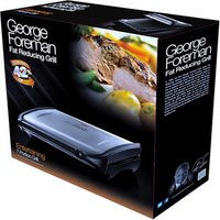 George Foreman 19932 7 Portion Family Health Grill in St Steel Black