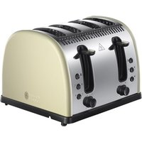 Buy Russell Hobbs 21302 LEGACY 4 Slice Side by Side Toaster in Cream - Sonic Direct