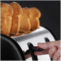 Buy Russell Hobbs 21303 LEGACY 4 Slice Side by Side Toaster in Black - Sonic Direct