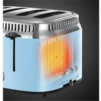 Buy Russell Hobbs 21693 4 Slice Retro Heavenly Blue Toaster Fast Toasting - Sonic Direct