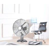 Fine Elements 10 Chrome Effect Desk Fan 10 Chrome Effect Desk Fan
