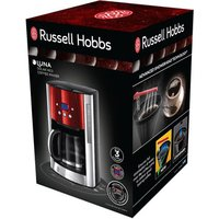 Russell Hobbs 23240 Luna Filter Coffee Machine with Timer in Red