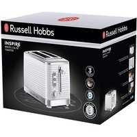Buy Russell Hobbs 24370 Inspire 2 Slice Toaster in White High Lift Feature - Sonic Direct