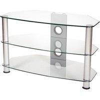 Vivanco 31204 Brisa 600mm Wide Clear Glass TV Stand