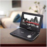 Akai A51006 10 LED Portable DVD Player in Black SD USB Input