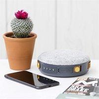 Akai A58086 Sonisk Round Portable Bluetooth Speaker Grey