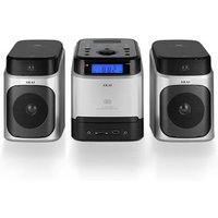 Akai A60002 Micro Hi Fi System in Silver CD FM Tuner with USB Port