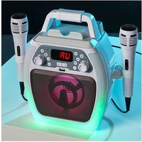 'Daewoo Avs1493 Compact Bluetooth Karaoke Machine In White Usb Input