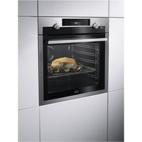 AEG BCS556020M Built In SteamBake Electric Single Oven in St Steel A