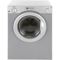 White Knight C37AS 3kg Compact Tumble Dryer in Silver Vented