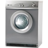 White Knight C44A7S 7kg Air Vented Tumble Dryer in Silver Reverse Acti