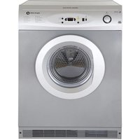 White Knight C86A7S 7kg Air Vented Tumble Dryer in Silver Sensor Contr