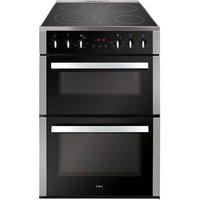 CDA CFC630SS 60cm Electric Cooker in St St Double Oven Ceramic Hob
