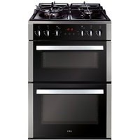 CDA CFD650SS 60cm Duel Fuel Cooker in St Steel Double Oven Gas Hob