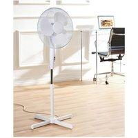 Daewoo COL1065GE 16 Pedestal Fan in White 3 Speed Settings
