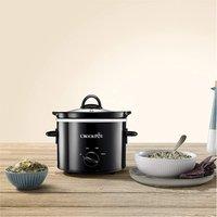 Crock Pot CSC080 1 8 litre Slow Cooker Black