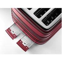 Delonghi CTAC4003 R AVVOLTA 4 Slice Toaster in Red Class 4