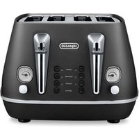 Buy Delonghi CTI4003 BK DISTINTA 4 Slice Toaster in Matt Black - Sonic Direct