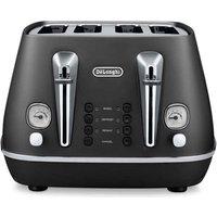 Buy Delonghi CTI4003 BK DISTINTA 4 Slice Toaster in Matt Black - Sonic Direct