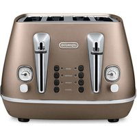 Buy Delonghi CTI4003 BZ DISTINTA 4 Slice Toaster in Matt Bronze - Sonic Direct