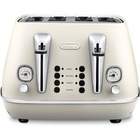 Buy Delonghi CTI4003 W DISTINTA 4 Slice Toaster in White - Sonic Direct