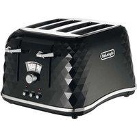 Buy Delonghi CTJ4003BK BRILLANTE 4 Slice Toaster in Black - Sonic Direct