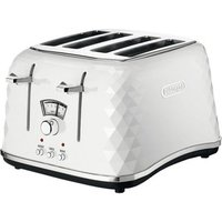 Buy Delonghi CTJ4003W BRILLANTE 4 Slice Toaster in White - Sonic Direct